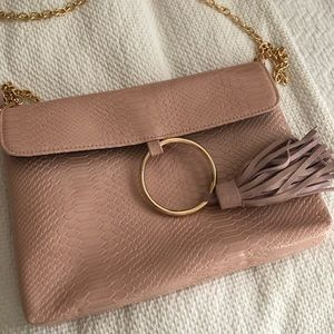 Snakeskin clutch/chain purse